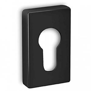 Hranatá rozeta Convex US čierna pre vchodové dvere