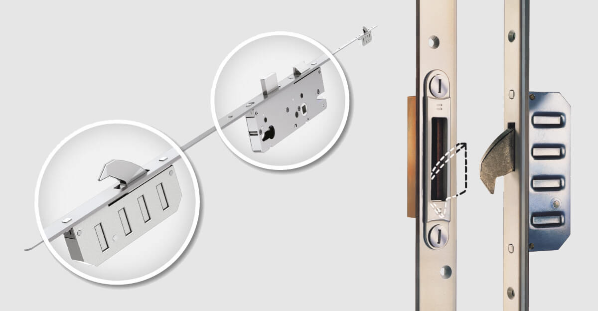 Winkhaus viacbodový hákový bezpečnostný zámok pre vchodové dvere